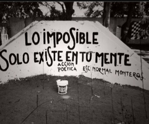 accion poetica, impossible, and frases image