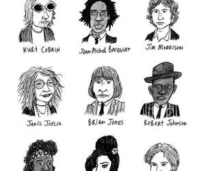 Amy Winehouse, Jim Morrison, and Jimi Hendrix image