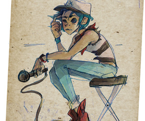 2d, fan art, and gorillaz image