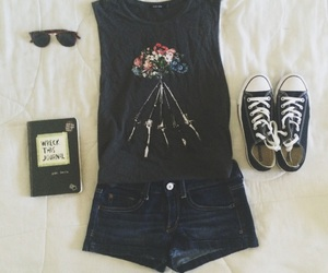 beach, converse, and outfit image