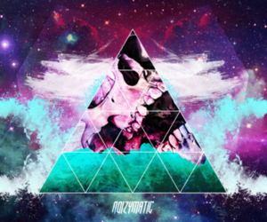 hipster, triangle, and galaxy image