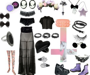 fashion, goth, and pastel image