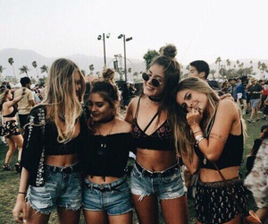 friends, girl, and coachella image