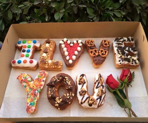 donuts, food, and love image