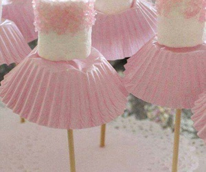 pink, ballerina, and marshmallow image