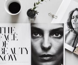 coffee, magazine, and beauty image