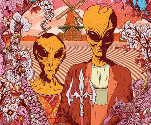 alien, trippy, and art image