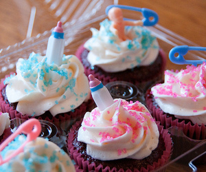 cupcakes, food, and blue image