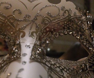 mask, silver, and sparkly image