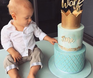 baby, boy, and cake image