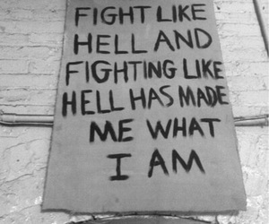 quote, hell, and fight image