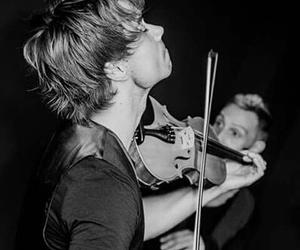 black and white, piano, and violin image