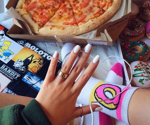 donuts, pizza, and nails image