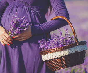 pregnant, baby, and purple image