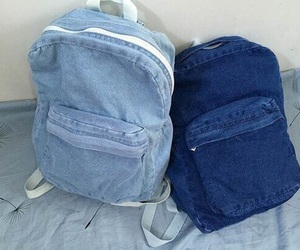 blue, denim, and bag image