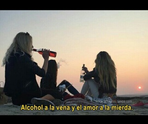 alcohol, love, and feelings image