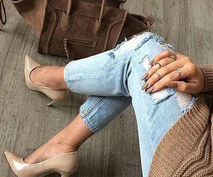 fashion, heels, and bag image