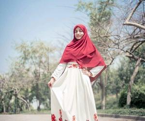 dress, scarf, and حجاب image