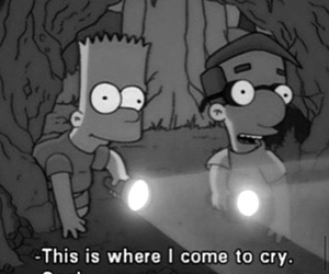 black and white, grunge, and the simpsons image