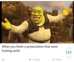 funny, shrek, and presentation image