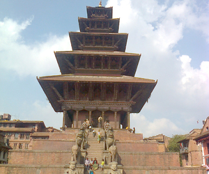 nepal, travel, and bhaktapur image