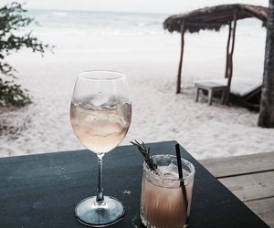 drink, beach, and tumblr image