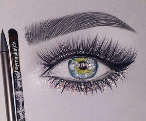 art, beauty, and eye image