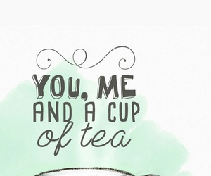cup, tea, and me image