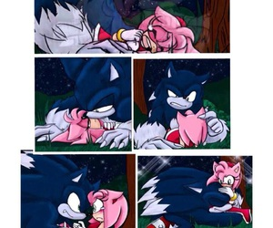 comic book, Sonic the hedgehog, and love couple image