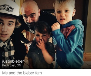 cap, kids, and bieber family image