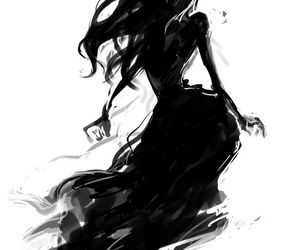 art, black, and anime image