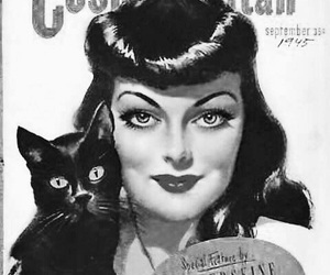 cat, magazine, and rockabilly image