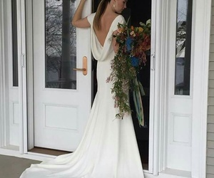 flover, wedding hair, and brunete image