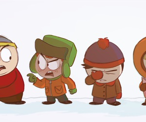 cartman, South park, and kenny mccormick image