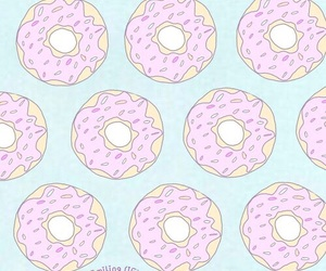 wallpaper, donut, and pink image