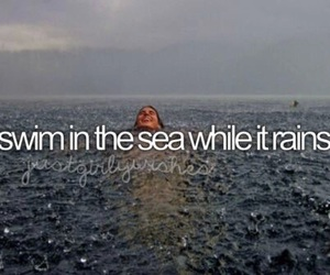 rain, sea, and swim image