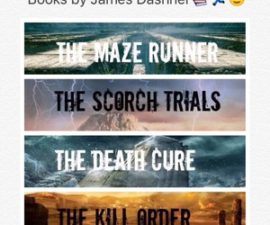 book, the maze runner, and the scorch trials image
