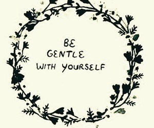 quote, flowers, and gentle image