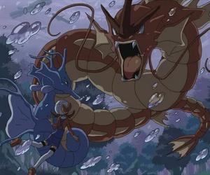 pokemon, kingdra, and gyarados image