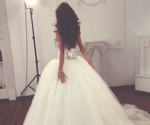 girl, wedding, and white dress image