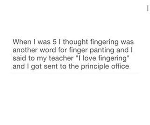 fingering, said, and word image