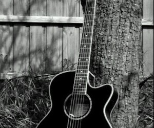 music, black, and guitar image