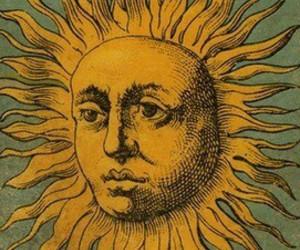 sun, grunge, and yellow image