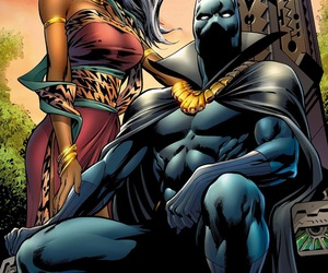 black panther, Marvel, and storm image