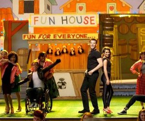 glee, cory monteith, and darren criss image