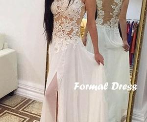 prom dress, dress, and lace image