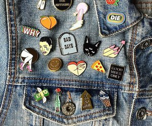 grunge, pins, and jeans image