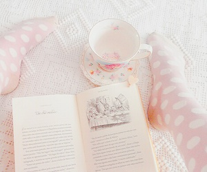 pink, book, and pastel image
