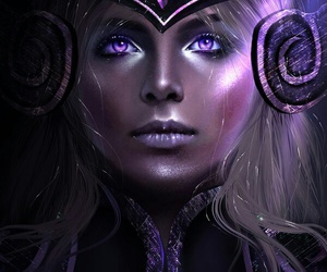 game, league of legends, and syndra image