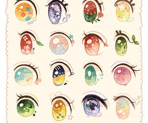 anime, eyes, and kawaii image